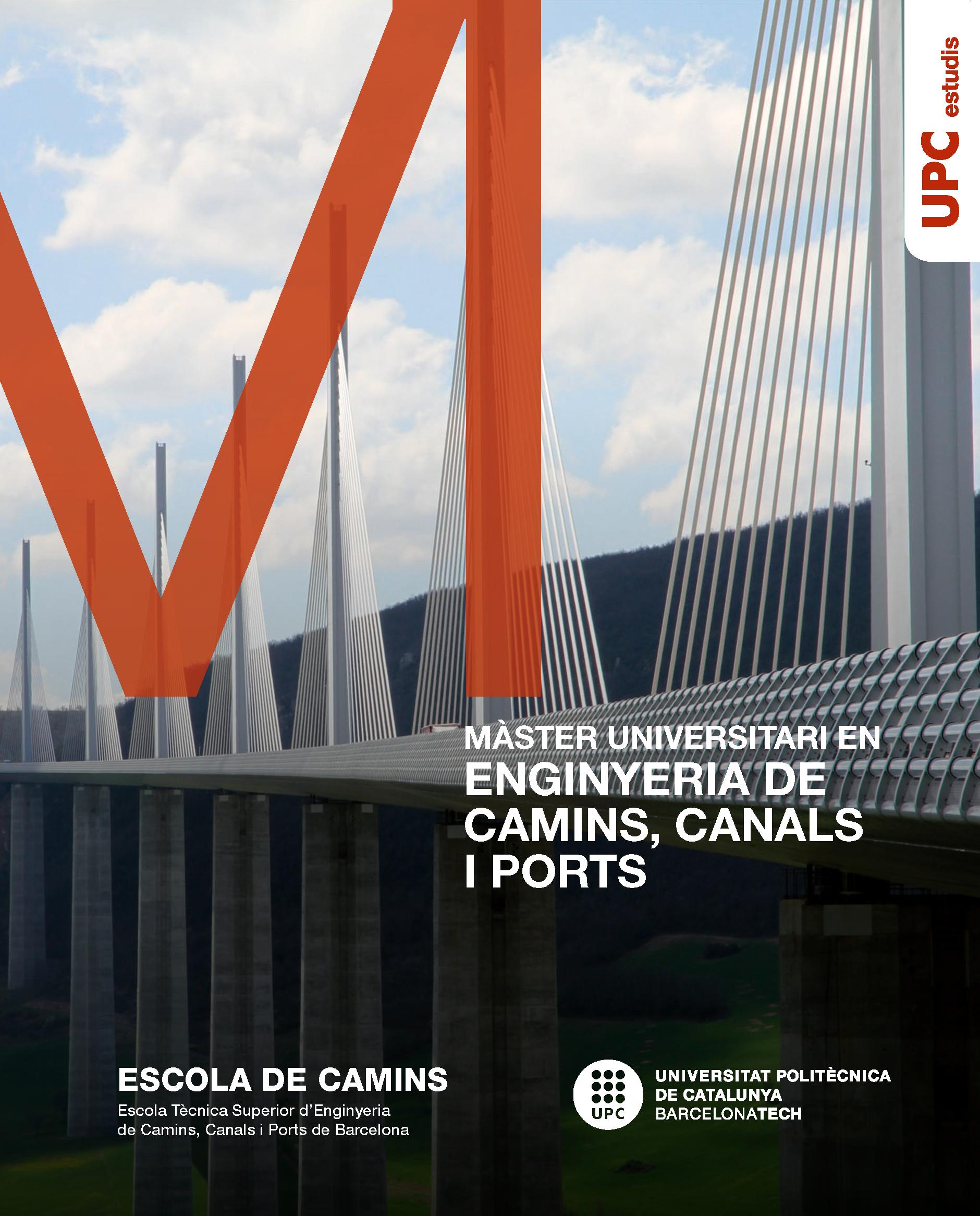 Díptic del Màster en Enginyeria de Camins, Canals i Ports