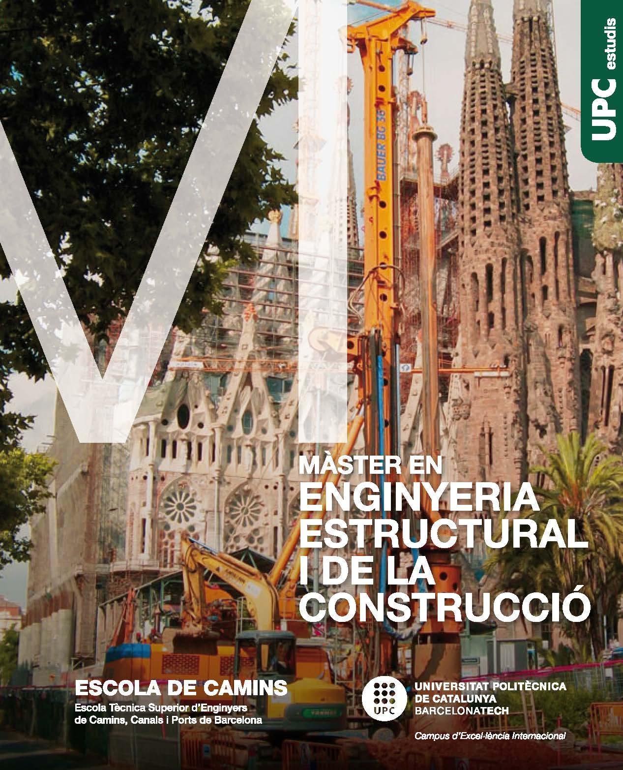 Díptic del Màster en Enginyeria Estructural i de la Construcció