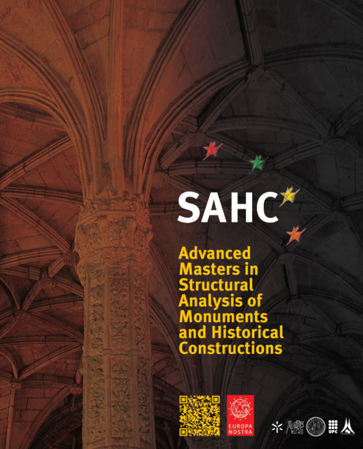 Díptico del Máster en Análisis Estructural de Monumentos y Construcciones Históricas
