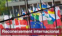 Reconeixement internacional