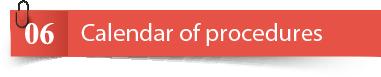 Procedure calendar