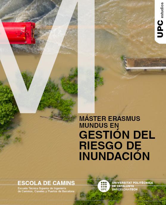 Díptico del Máster en Gestión del Riesgo de Inundación