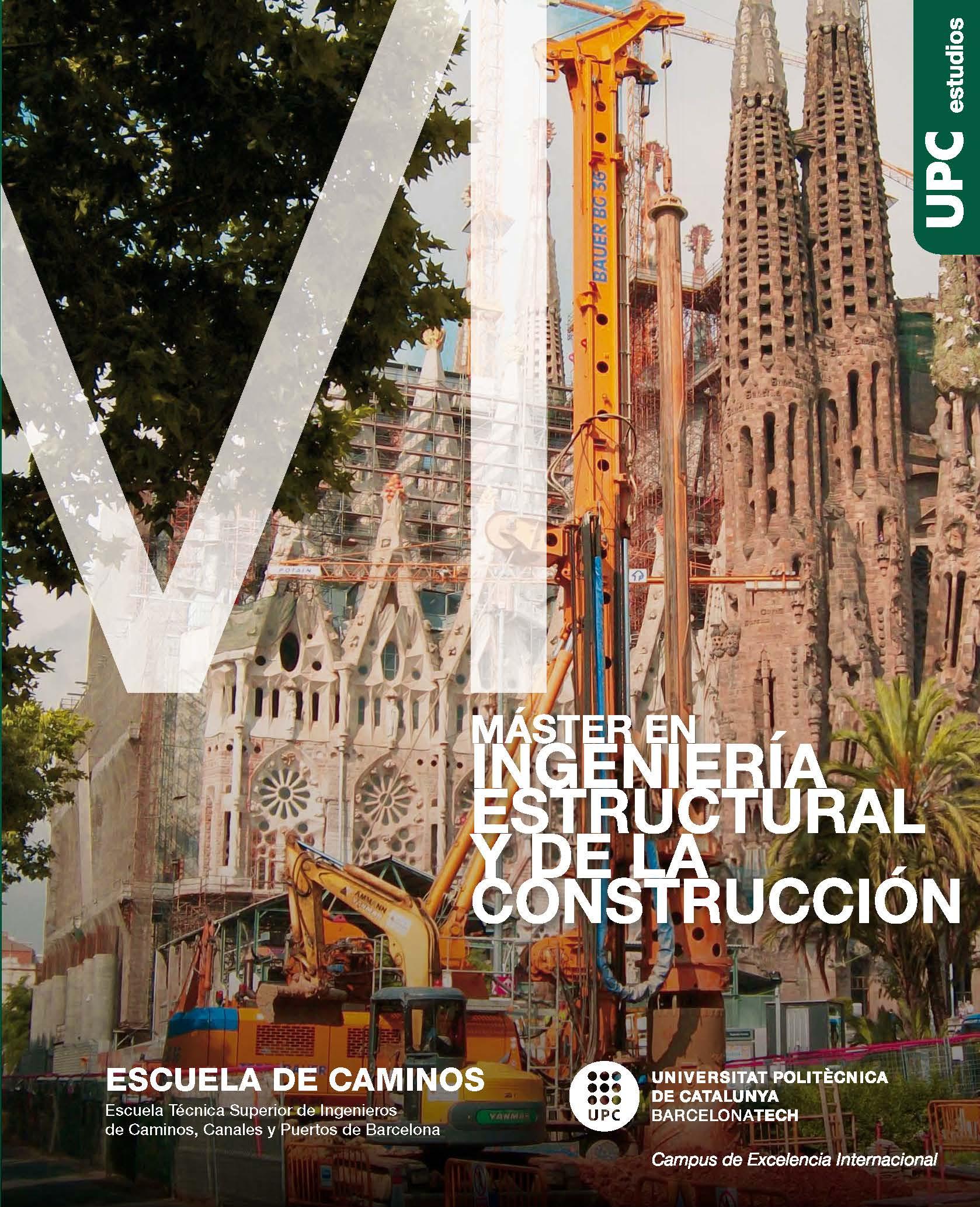 Díptico del Máster en Ingeniería Estructural y de la Construcción